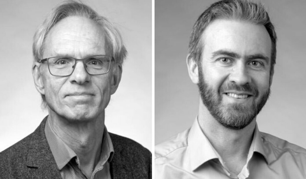 Fv: Paul Bjerke og Lars Julius Halvorsen fra Høgskulen i Volda