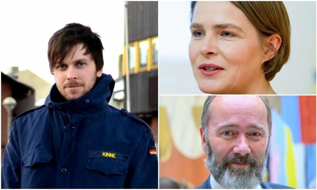 Styreleder Amund Trellevik i Svarte Natta, Dagsavisen-kommentator Hege Ulstein og Trond Giske i Arbeiderpartiet.