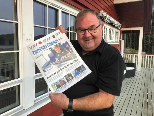 Redaktør i Fjordenes Tidende, Erling Wåge.
