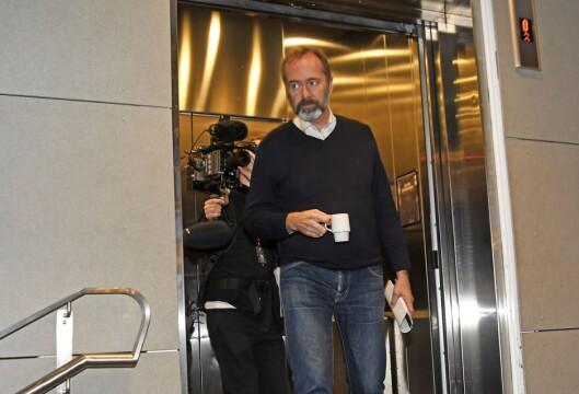 Trond Giske ankommer for å delta på konferansen Svarte Natta i Tromsø. Han er der for å snakke om medias håndtering av MeToo.