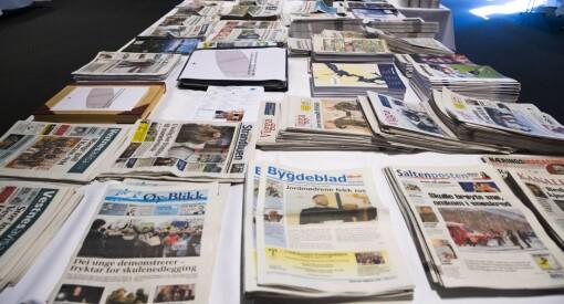 Her er fordelingen av årets mediestøtte: 5,6 millioner mer til lokalavisene