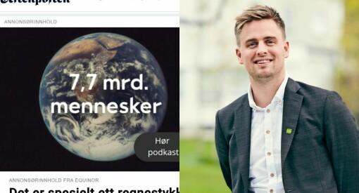 Dag ut og dag inn er Aftenposten reklameplakat for oljebransjen
