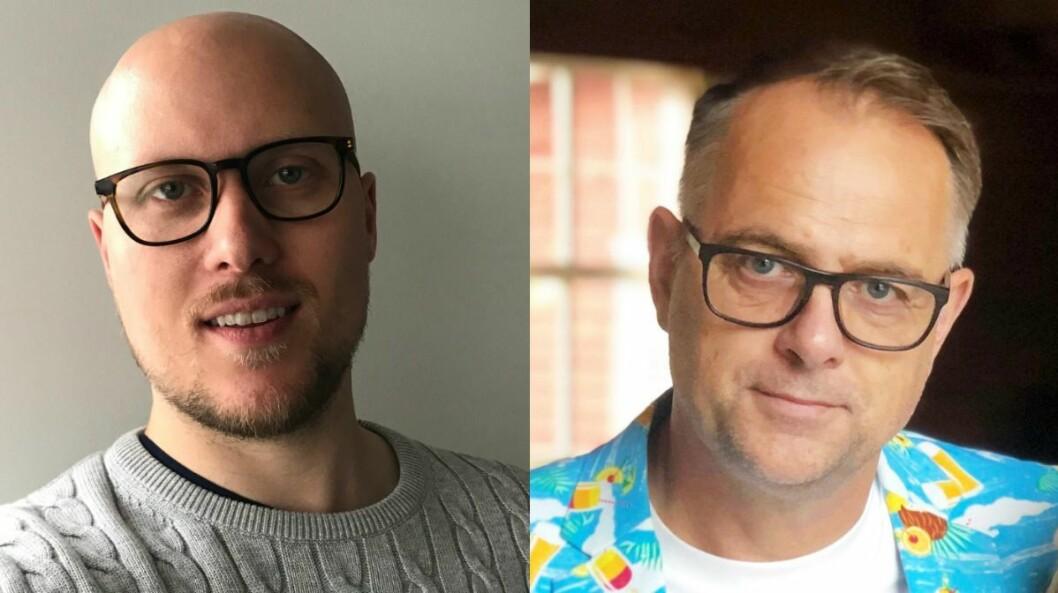 Tekstforfatter Andreas Ryen Eidem til venstre og frilansjournalist Lasse Olsrud Evensen til høyre.