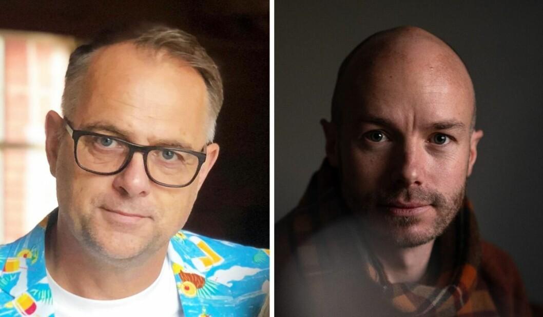 Lasse Olsrud Evensen og Skjalg Bøhmer Vold diskuterer fotojournalistikk.