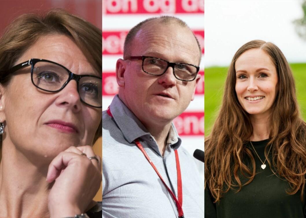 Tidlegare Oslo-byråd for helse, eldre og arbeid – Tone Tellevik Dahl (Ap), leiar Frode Jacobsen i Oslo Ap, og leiar Elin Maria L'estrange i Ullensaker Ap.