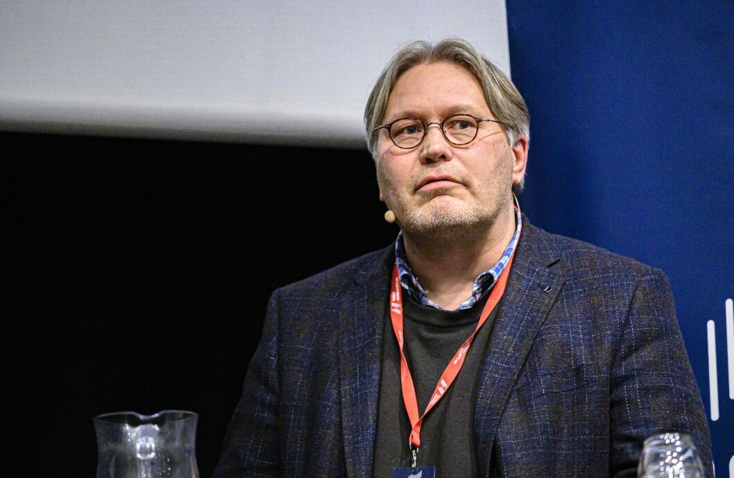 Skjalg Fjellheim, politisk redaktør Nordlys. Her under debatt på Svarte Natta 2019.