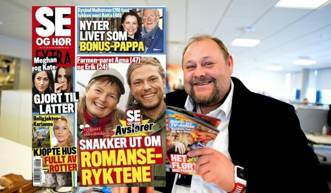 Redaktør Ulf Andre Andersen i Se og Hør beklager stikktittelen på forsiden om Farmen-deltagerne Agna Hollekve og Erik Rothaug.