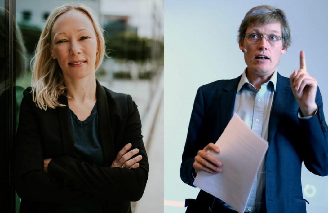 Professor Helle Sjøvaag ved Universitetet i Stavanger og medieforskar Jens Barland ved Høyskolen Kristiania.