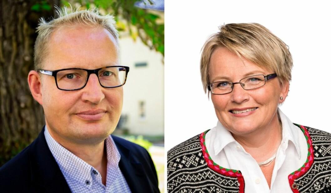 forbruker- og kommunikasjonssjef Carsten Henrik Pihl (t.v.) og redaktør Nina Granlund Sæther i Hus og Bolig.