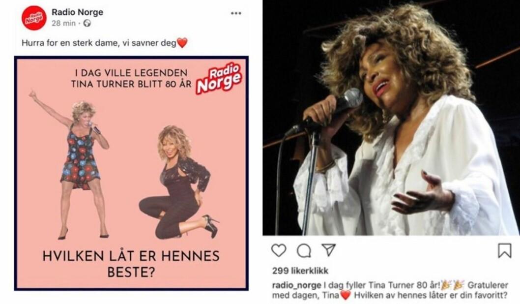 De to innleggene om Tina Turner hadde litt forskjellige budskap