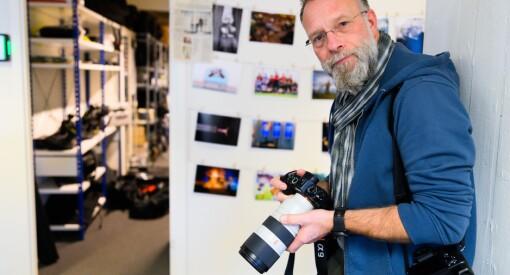 Heiko Junge har teke 98.000 bilete for Scanpix. No hudflettar han norske aviser