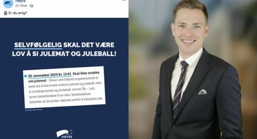 Intern kritikk i Høgre etter Facebook-innlegg: – Har lært litt av denne saka
