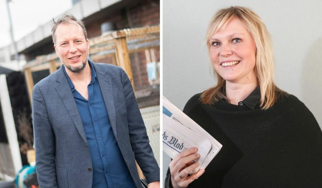 Vegard Velle i VårtOslo og Kristin Stoltenberg i Nordstrands Blad er blant redaktørene som fikk lokal pressestøtte i Oslo.
