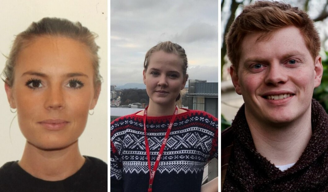 Ane Muladal, Martha Holmes og Eirik Røsvik.