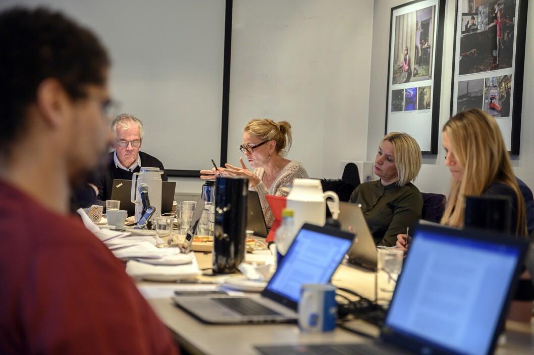 Arkivfoto: Kristin Taraldsrud Hoff (i midten) argumenterteunder et tidligere PFU-møte.