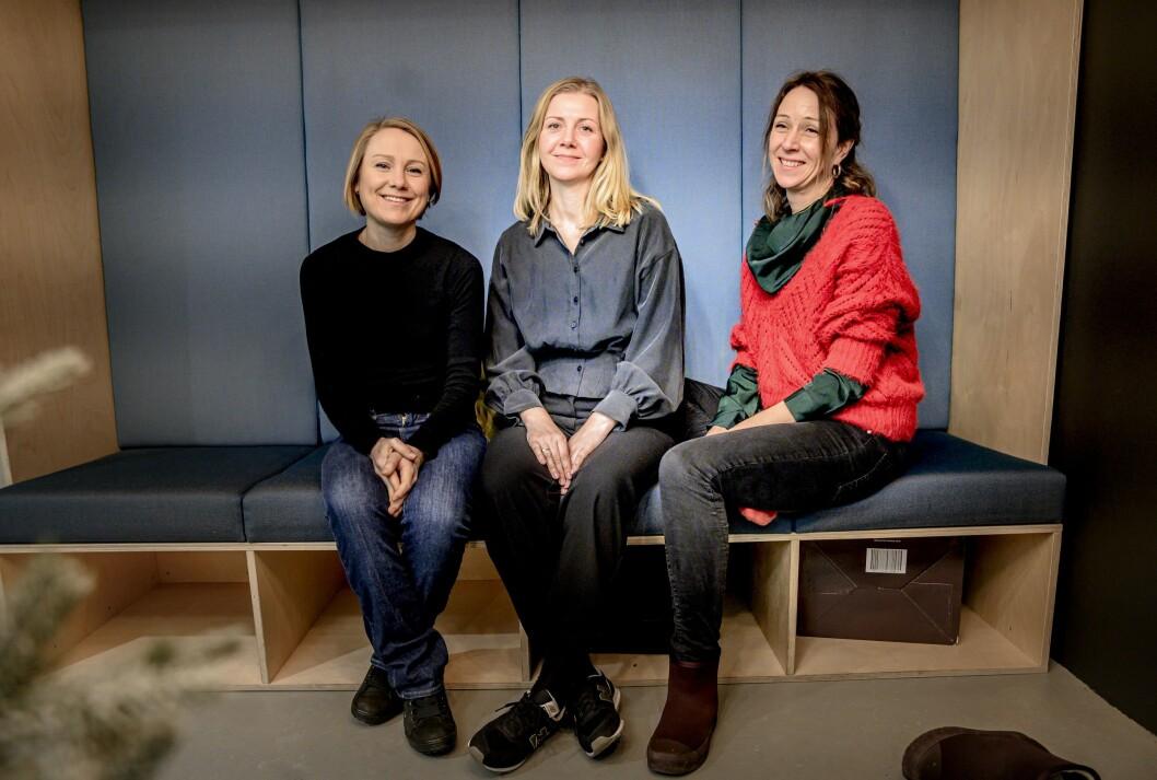 Tuva Strøm Johannessen, Jannicke Nilsen og Kjersti F. Eriksen utgjør redaksjonen i Karriere360.