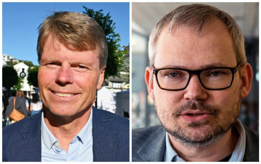 Vidar Udjus, politisk redaktør i Fædrelandsvennen og Roar Osmundsen, næringspolitisk ansvarlig i Kristiansand Næringsforening.
