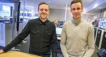 Truls (29) og Magnus (29) er Østlendingens nye redaktørduo - mener alderen er en styrke for avisen