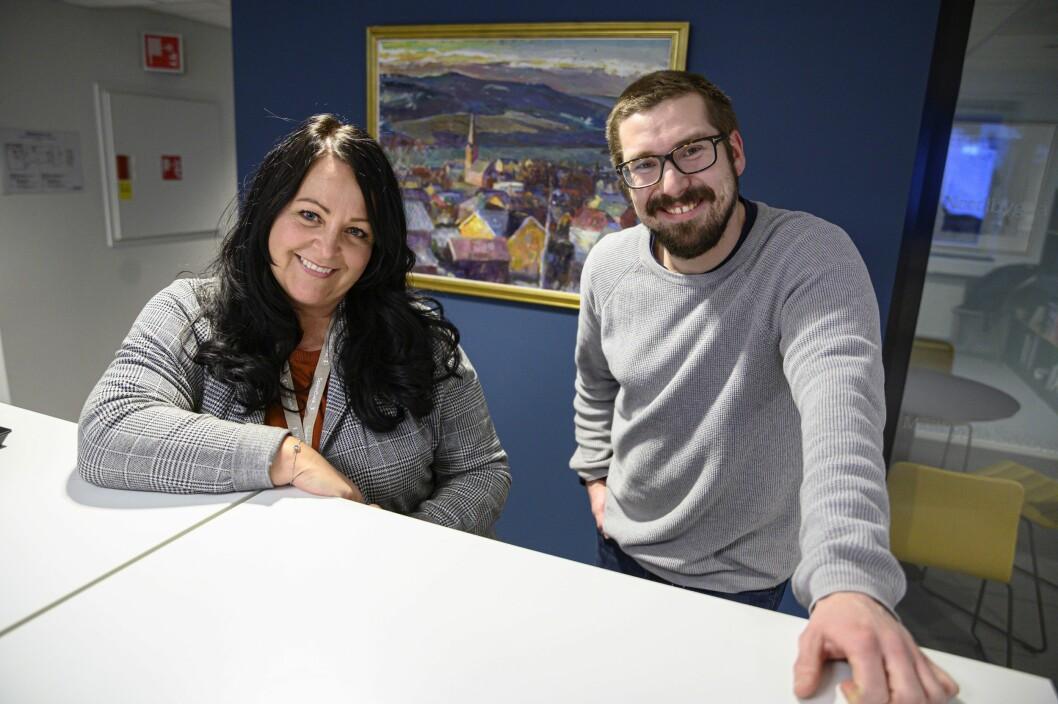 Sol Vår Haukaas Olsen og Ørjan Brendløkken utgjør Mitt Lillehammer-redaksjonen.