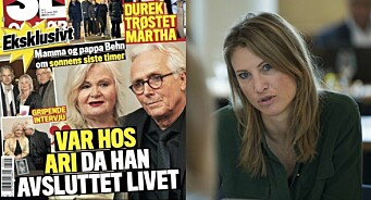 Eva Sannum rasar mot Se og Hør-oppslag om Ari Behn: – Har ikkje ord