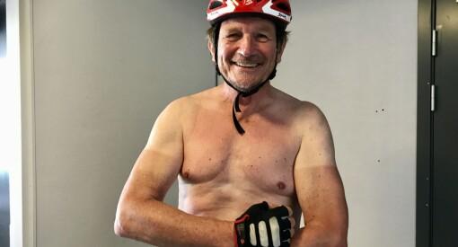 Superveteranen Rune Hagen (64) syklet 100 mil og skrev 47 artikler på 25 dager