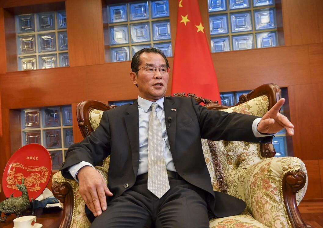 Kinas ambassadør Gui Congyou i Sverige.