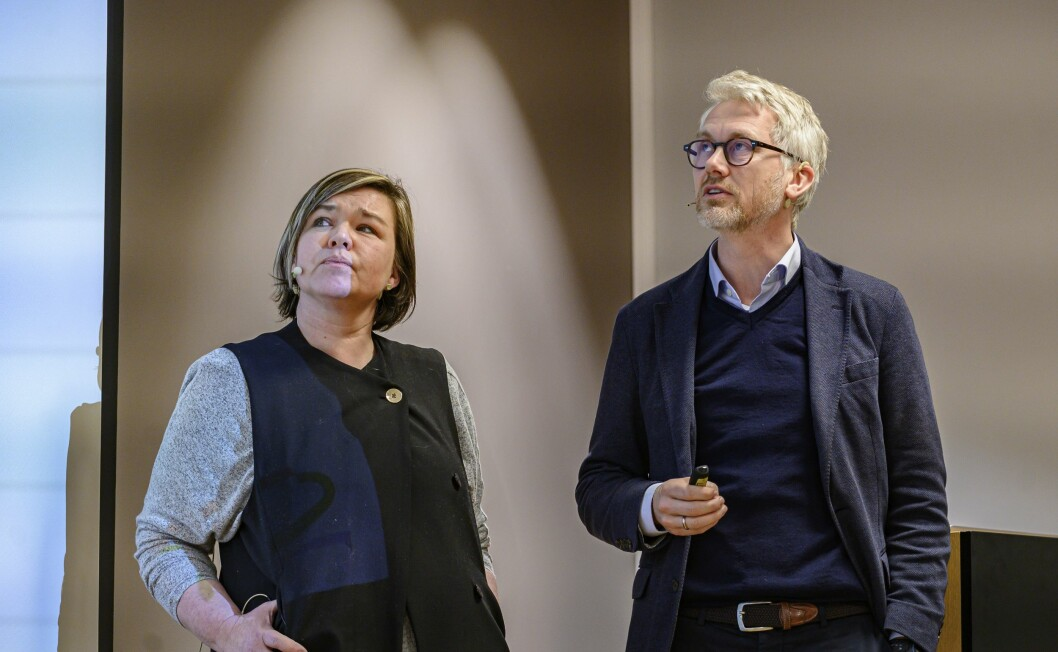 Henrikke Helland og Olav T. Sandnes.