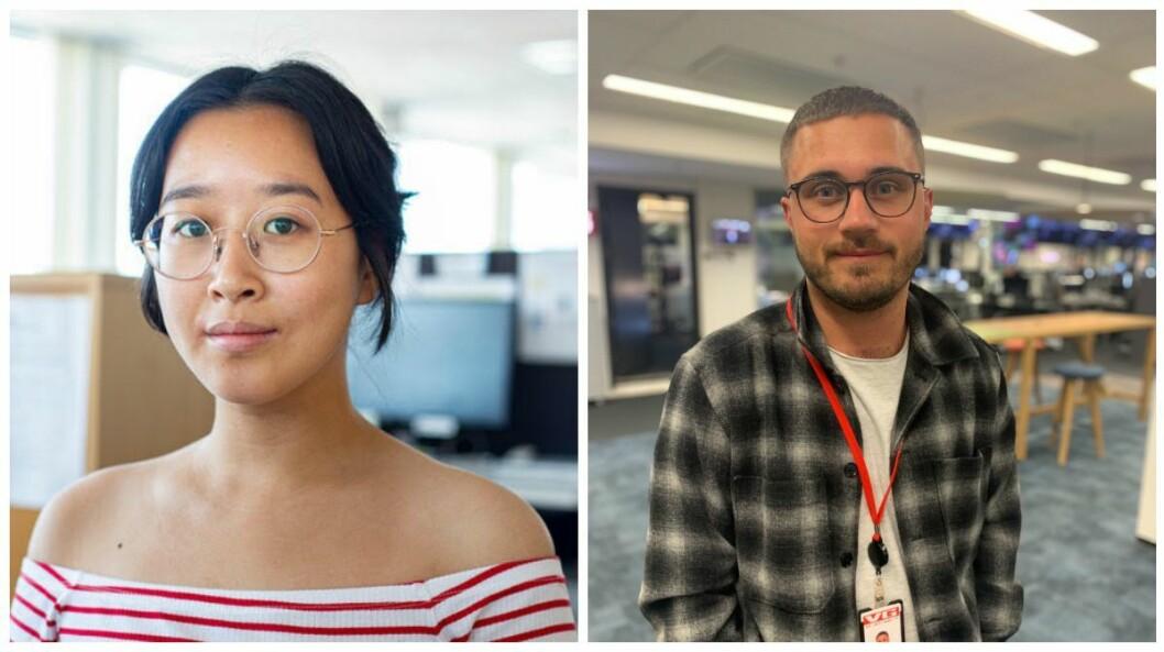 Xueqi Pang og Bastian Lunde Hvitmyhr får fast jobb i VG