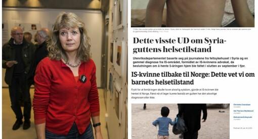 NOAS-sjef sterkt kritisk til at media publiserer helsejournalen til Syria-guten