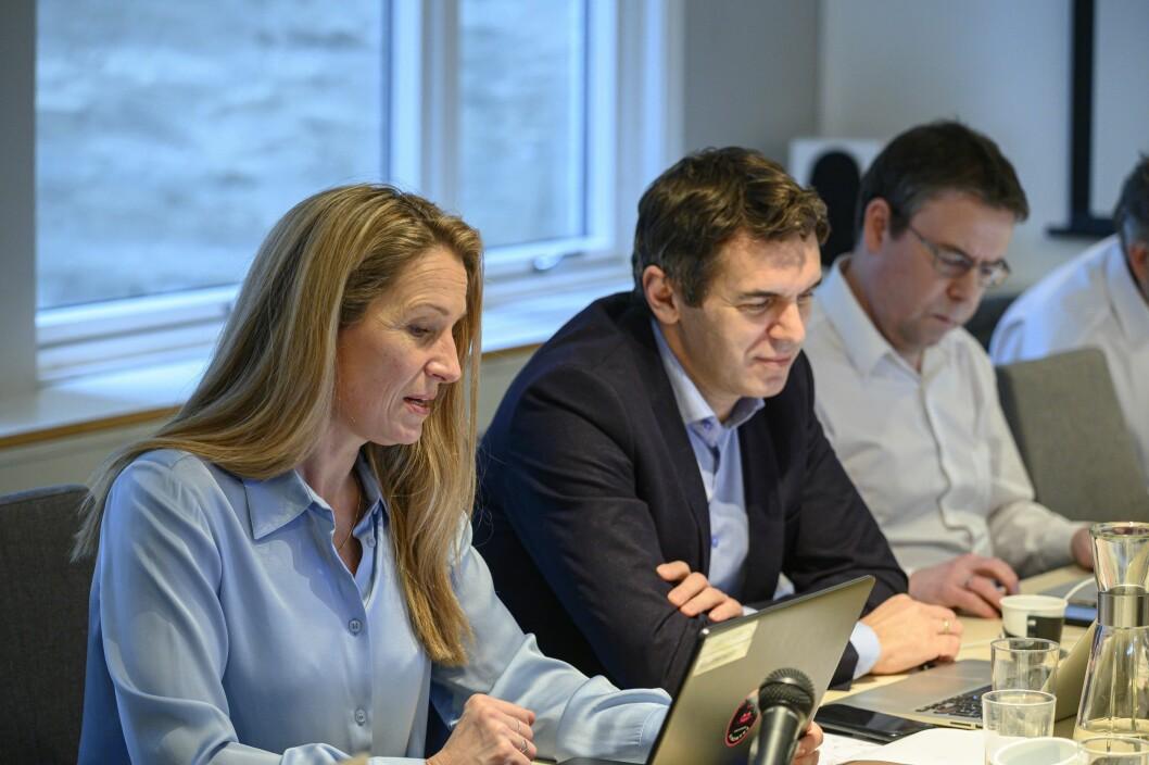Liv Ekeberg, Sylo Taraku og Frode Hansen i PFU-møtet 29. januar.
