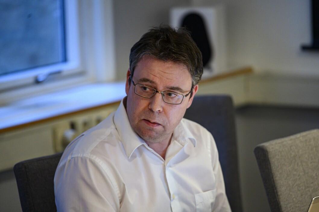 Nyhetsredaktør i Dagbladet, Frode Hansen, i PFU møte.