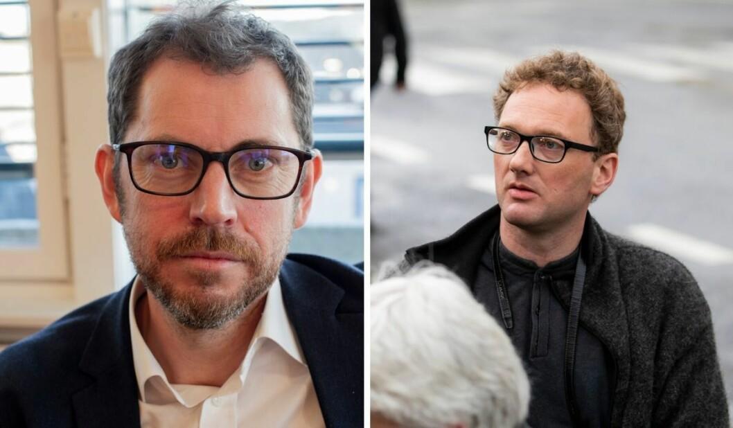 Vårt Land-redaktør Bjørn Kristoffer Bore (til venstre) skrev leder om Peder «Fjordman» Jensen som førte til PFU-klagen.