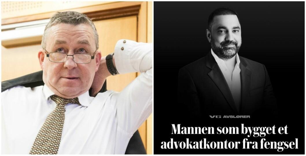 Advokat Steingrim Wolland i Advokatfirmaet Rogstad og VG-artikkelen «Mannen som bygget et advokatkontor fra fengsel».