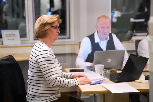 Styreleiar Hanna Relling Berg og generalsekretær Arne Jensen i Norsk Redaktørforening. Her frå styremøtet tysdag.