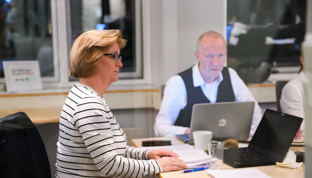 Styreleiar Hanna Relling Berg og generalsekretær Arne Jensen i Norsk Redaktørforening.