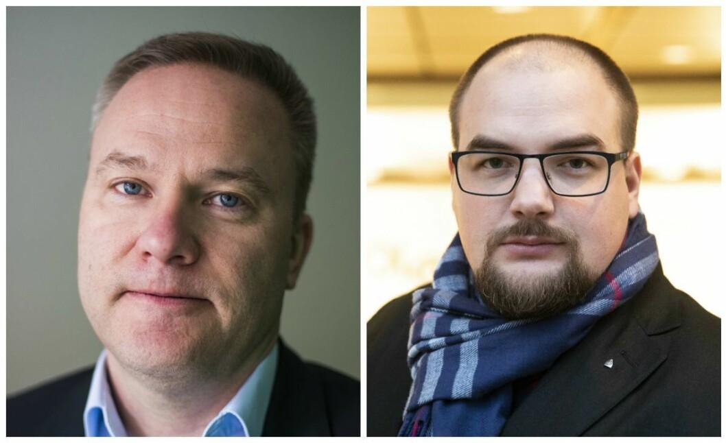 Helge Lurås i nettstedet Resett og ansvarlig redaktør Erik Waatland i Medier24.