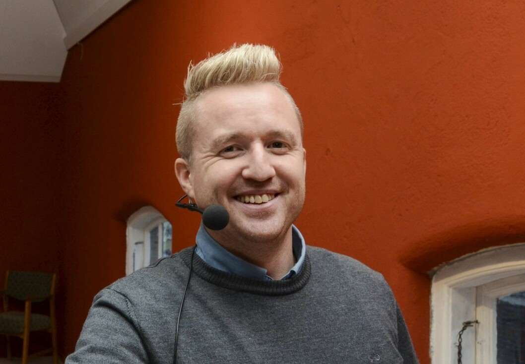 Eivind Dahle Sjåstad, redaktør i Hardanger Folkeblad.