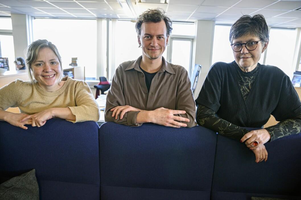 Det nye debatt-teamet til Vårt Land: Debattleder Dana Wanounou, journalist David Sviland og politisk redaktør Berit Aalborg.