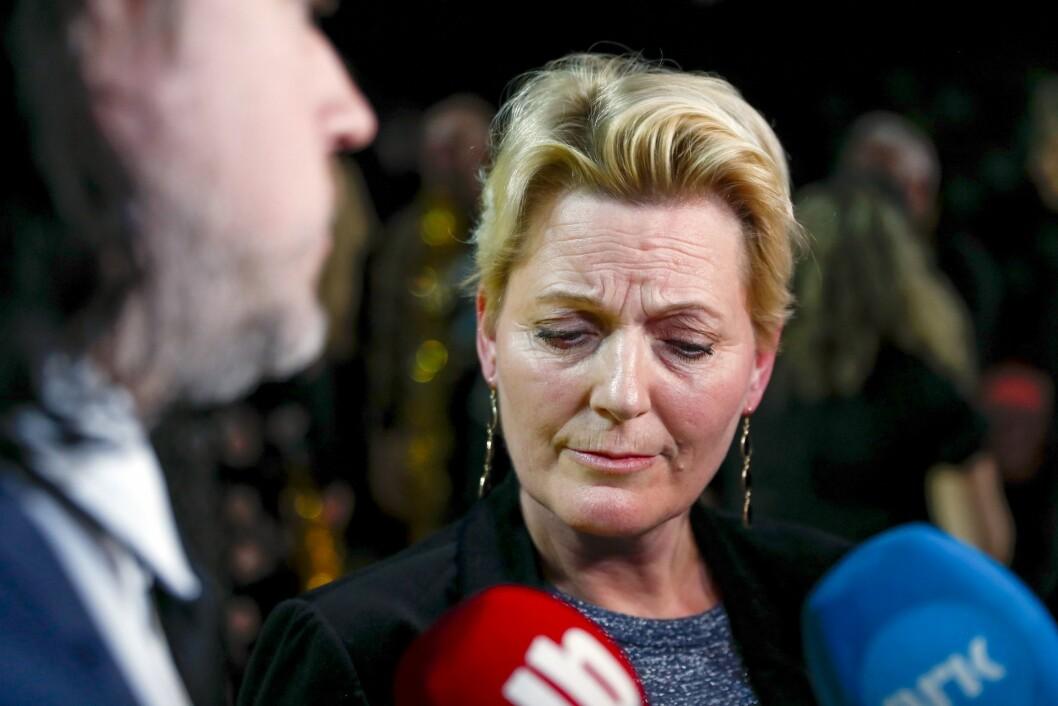 Konstituert kringastingssjef Vibeke Fürst Haugen må svare for det tekniske kaoset under stemmegivningen under finalen i MGP i Trondheim spektrum.Foto: Tore Meek / NTB scanpix