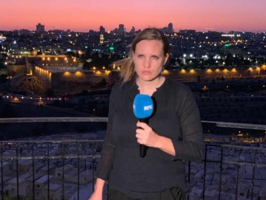 Kristin Solberg i Jerusalem.