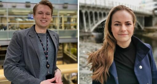 E24 ansetter Nora Rydne (26) og Hans Mortensønn Jordheim (29)