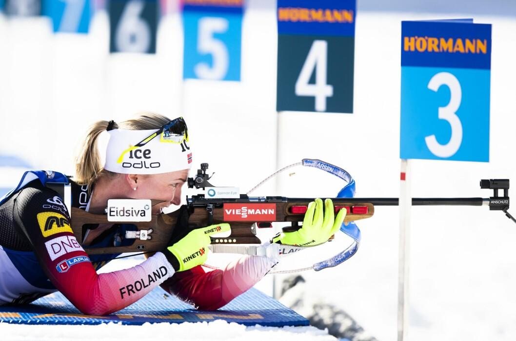 NRK og TV 2 sikrer seg rettighetene til skiskyting. Her fra da Marte Olsbu Røiseland gikk inn til en 3.plass under normaldistanse 15 km kvinner under VM i skiskyting 2020 i Anterselva.