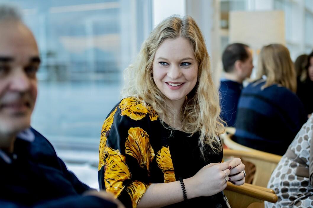 Ida Anna Haugen i NRK. Her fra første runde av mentorprogrammet itl MBL og Medienettverket