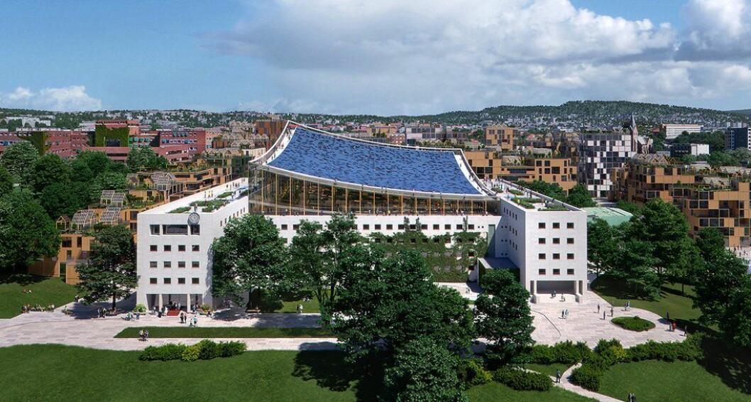 Slik ser Ferd og Snøhetta for seg at hovedbygget på Marienlyst kan bli seende ut. De vil kalle prosjektet «Lyst».