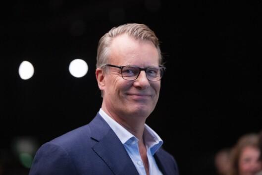 Johan H. Andresen, styreleder og eier av Ferd, under NHOs årskonferanse i Oslo Spektrum. Foto: Berit Roald / NTB scanpix