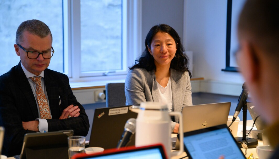 Lars Helle og Anne Weider Aasen under PFU-møtet 26. februar 2020.