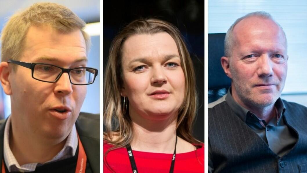 Eirik Hoff Lysholm, Hege Iren Frantzen og Arne Jensen er alle fornøyde med skrotingen av mediestøtteråd.