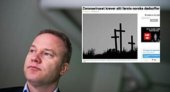 Faktisk helt feil fra Resett: En 80 år gammel norsk mann døde ikke av koronavirus
