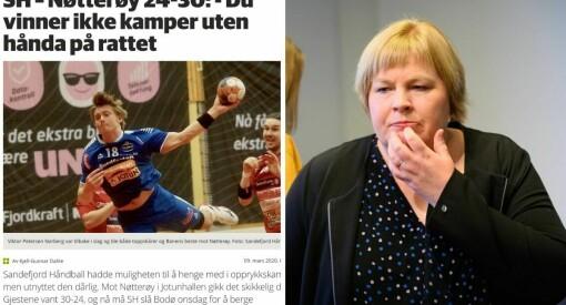 Avis lét dagleg leiar i handballklubb skriva kampreferat: – Uryddig
