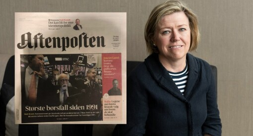 Aftenposten beklager forside-blemme: Blandet «børsfall» og «oljeprisfall»
